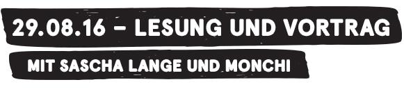 """29.08.16 – Lesung und Vortrag """"Meuten, Swing und Edelweisspiraten - Jugendopposition im Nationalsozialismus"""" mit Sascha Lange und Monchi"""